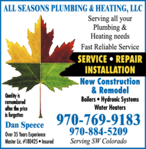 All Seasons Plumbing & Heating LLC